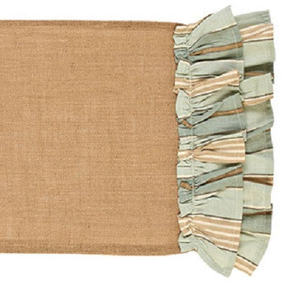 Sweet Water Burlap Table Runner ~ 36 Inches