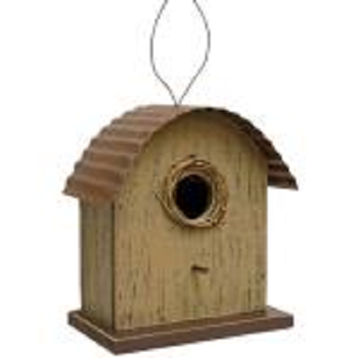 Tan Birdhouse Ornament