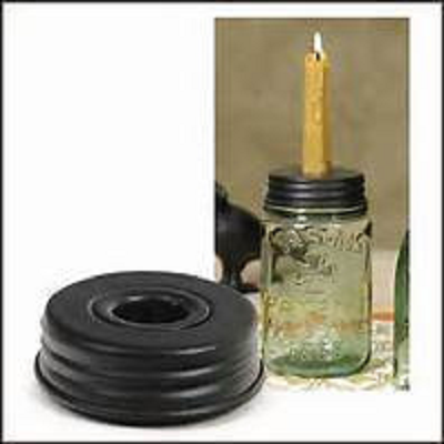 Mason Jar Taper Candle Holder Lid