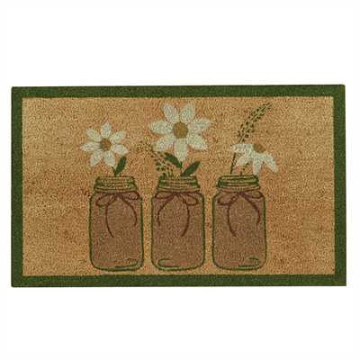 Three Mason Jar Doormat
