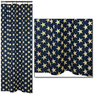 Vintage Star Shower Curtain