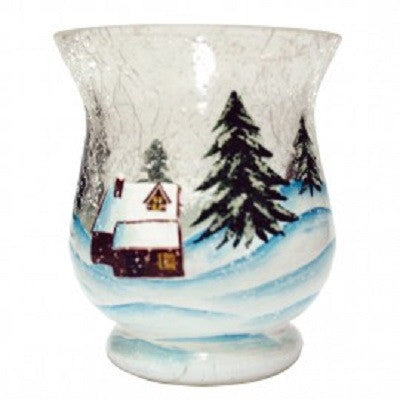 Winter Wonderland Crackle Glass Votive Cup