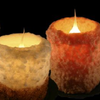 Warm Glow Cinnamon Fried Ice Cream & Gingerbread Cookie Flameless Scented Electric Hearth Candle