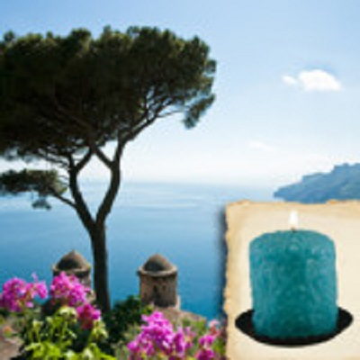 Warm Glow Mediterranean Waters Scented Hearth Candle