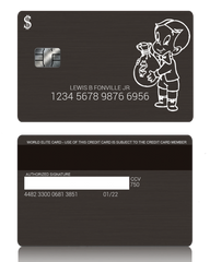 Richie Rich Custom Black Metal Credit Debit Card