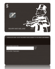 Gangster Custom Black Metal Credit Debit Card