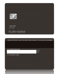 Custom Black Metal Credit Debit Card