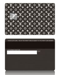 Louis Vuitton Inspired Black Metal Credit Debit Card