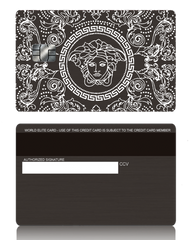 Versace Inspired Black Metal Credit Debit Card