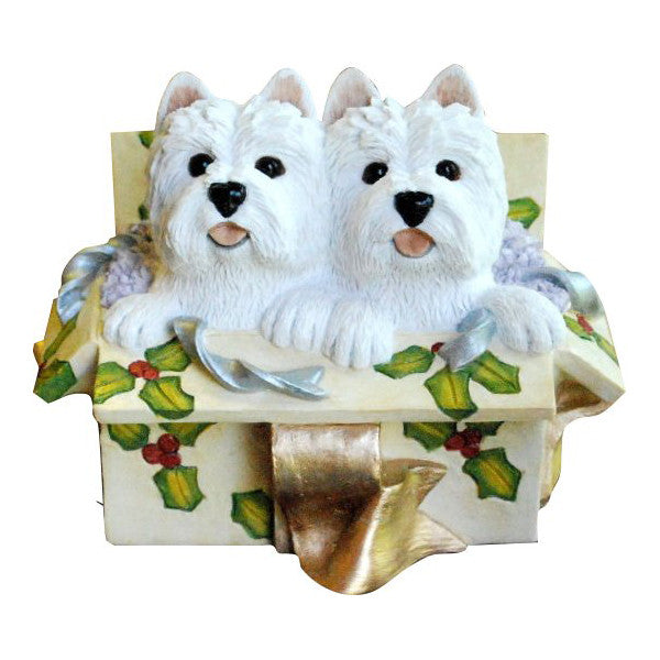 Christmas Westie Double Delight Light Tan Box