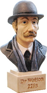 Dr Watson Bust Sculpture Gift Hand Painted By Peakdalesculptures