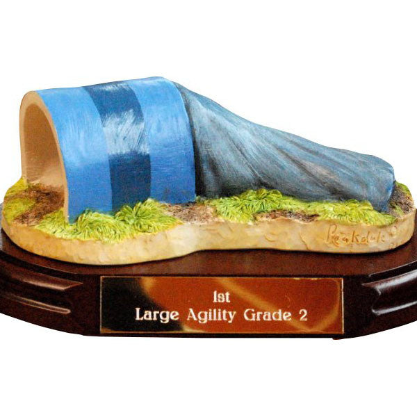 Flat Tunnel Dog Agility Trophy + Engraving - Peakdalescilptures