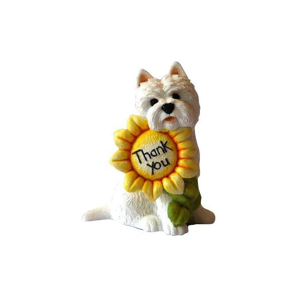 Thank You Westie Gift Ornament Sculpture