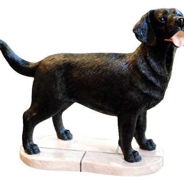 Black Labrador Retriever Gift Figurine Ornament
