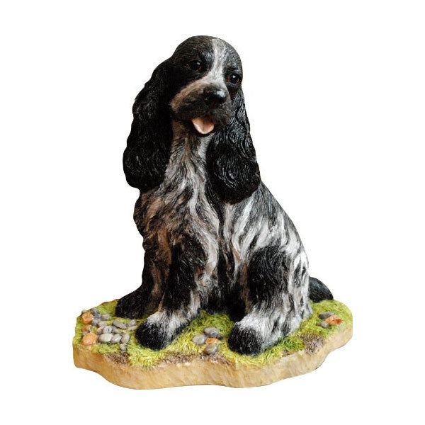 Blue Roan Cocker Spaniel statue