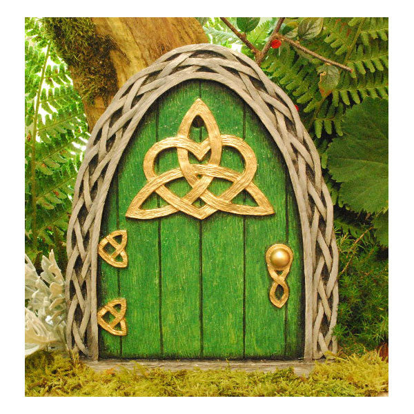 Celtic Fairy Door Large Green Celtic Fairy Door