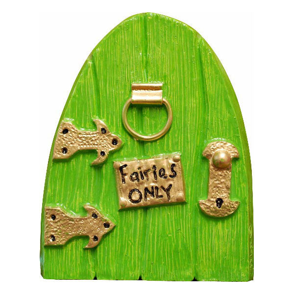 Fairies Only Hand Painted Green Fairy Door