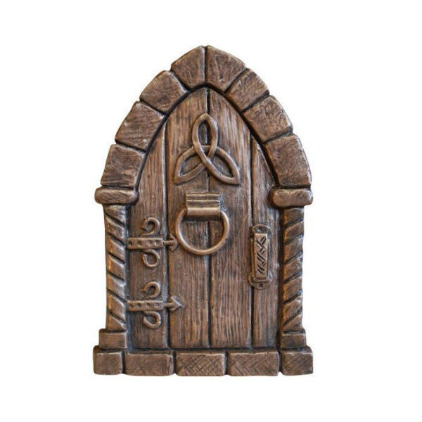 Celtic Fairy Door In Bronze