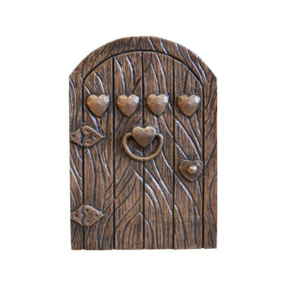 Four Hearts Fairy Door Bronze Finish