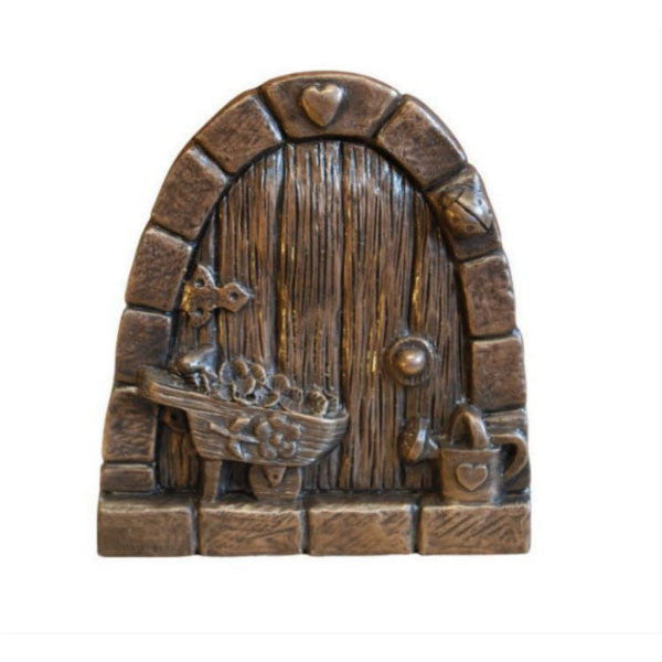Gardeners Fairy Door In Bronze