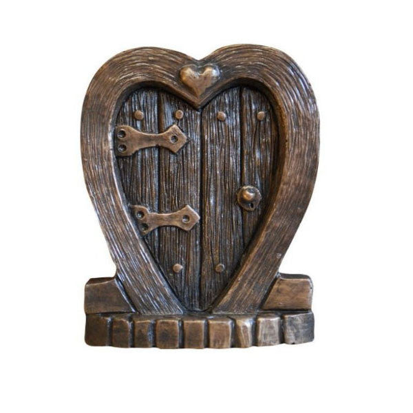 Heart Fairy Door In Bronze