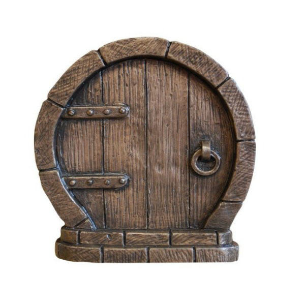 Round Fairy Door In Bronze