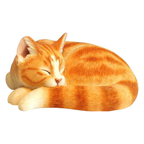 Cat sculpture Ginger sleeping