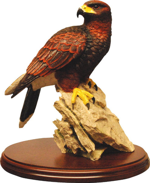 Harris Hawk Sculpture Fine Detailed Ornament by Peakdalesculptures