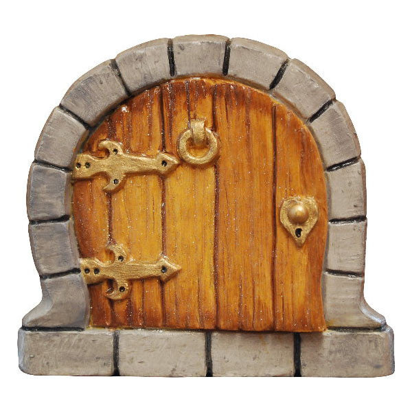 Hobbit Fairy Door Hand Painted Tan