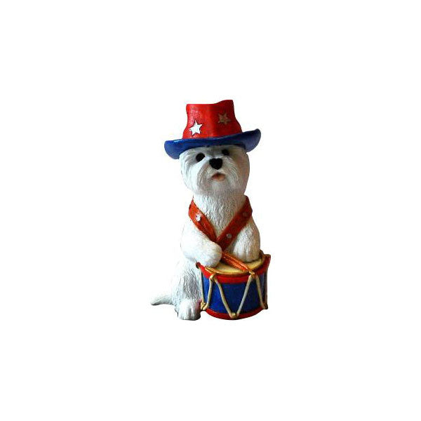 Independence Day Westie Figurine Gift