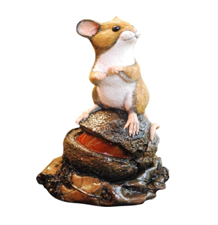 Mouse on Conker by Peakdalesculptures Handpainted with Bronze Finish - Free P&P