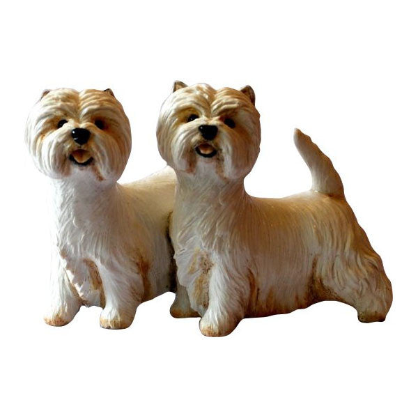 West Highland White Terrier Pair Figurine Gift Ornament