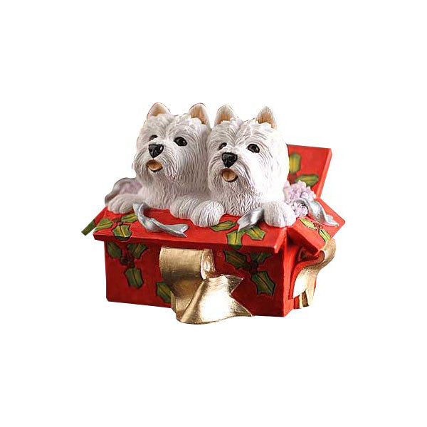 Christmas Westie Double Delight Red Box