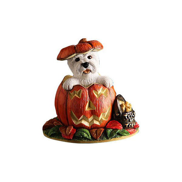 "Halloween Pumpkin Westie ""Surprise"""