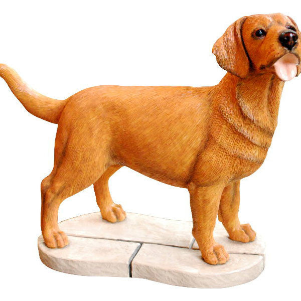 Red Fox Labrador Retriever Gift Figurine Ornament