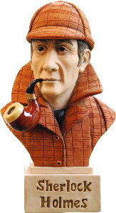 Sherlock Holmes Bust Sculpture Gift Hand Painted By Peakdalesculptures