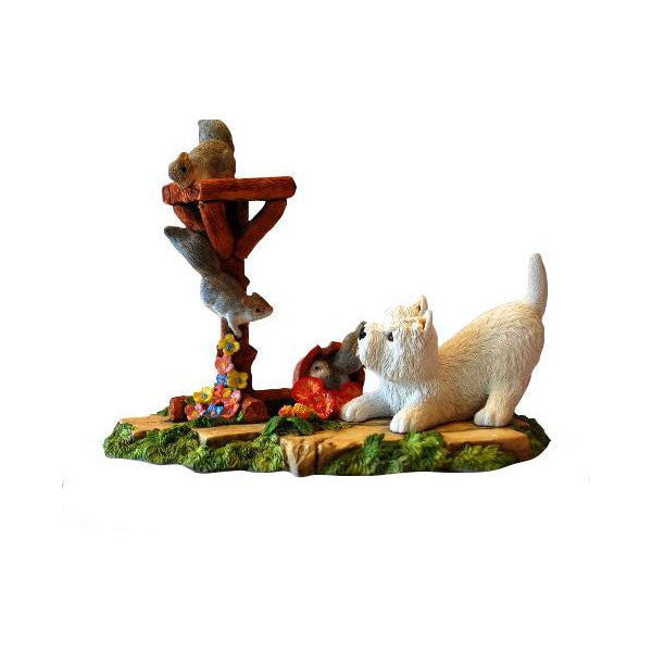 Cheeky Squirrels and westie Figurine gift