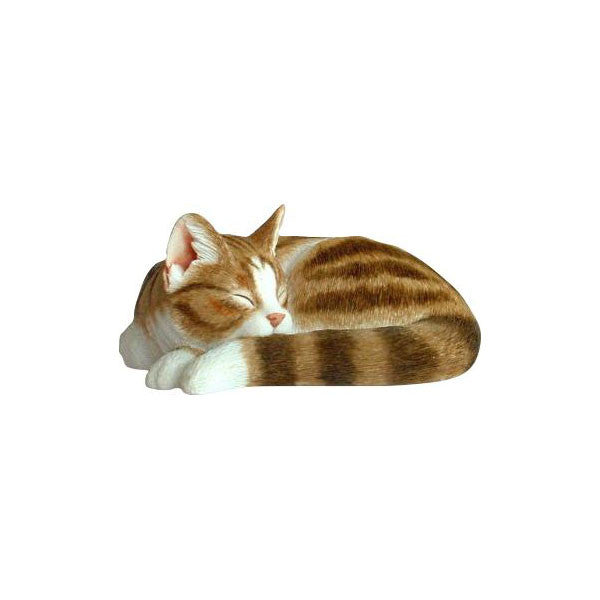 Cat Sculpture Tabby sleeping
