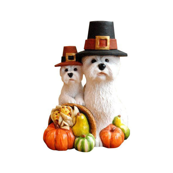 2012 Thanksgiving Pilgrim Westies Figurine