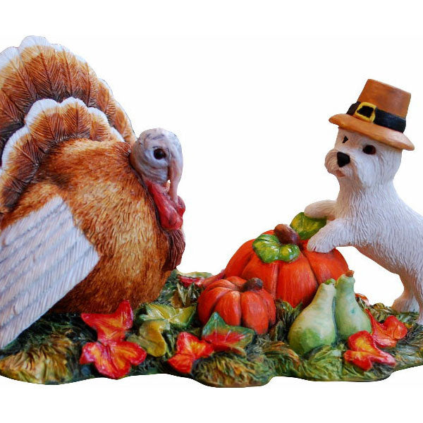 2013 Thanksgiving Westie Pup Figurine Gift
