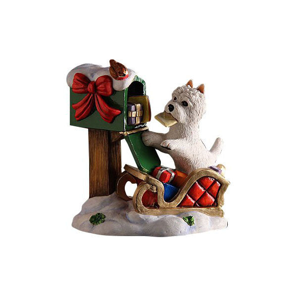 Christmas Westie Pup Special Delivery Ornament