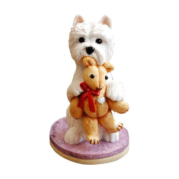 Westie with Teddy Bear without base