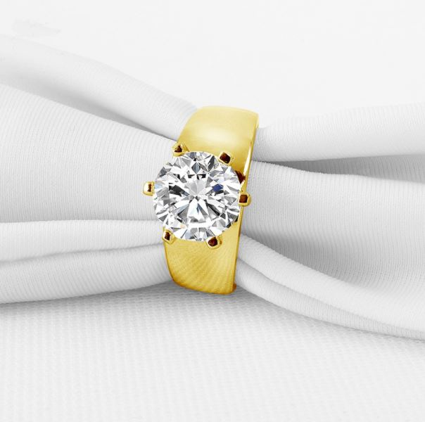 10k Solid Yellow Gold Ring - Eazideal Jewelry Galore