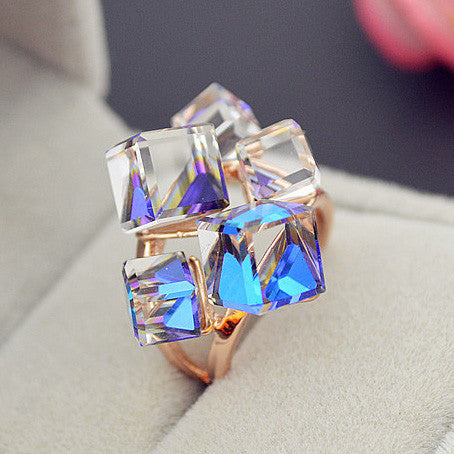 Crystal Rings - Eazideal Jewelry Galore