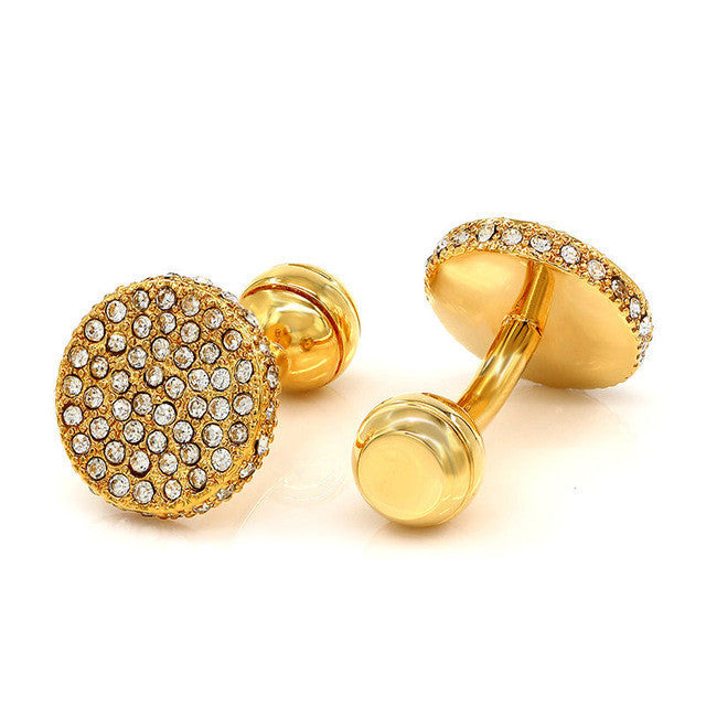 Luxury Crystal Cuff Links - Eazideal Jewelry Galore