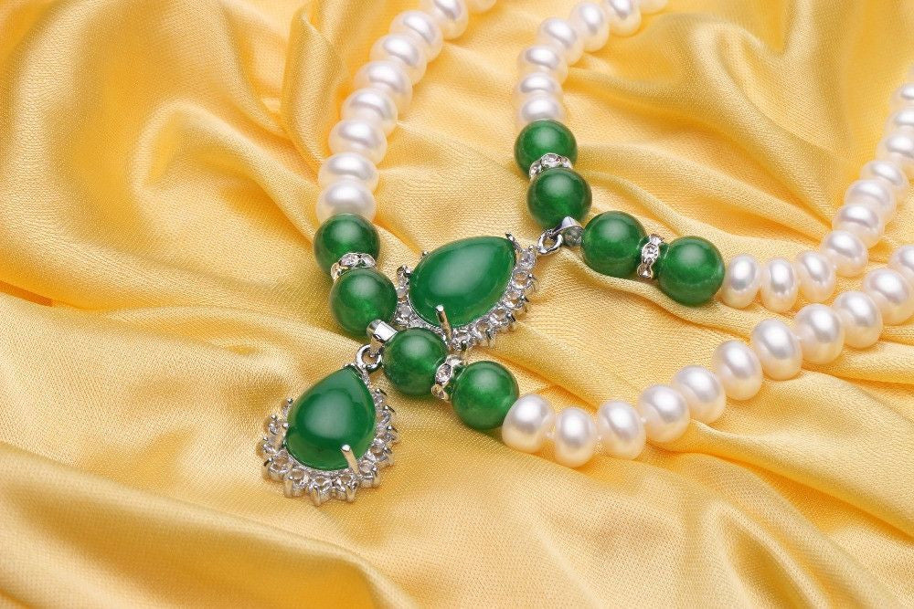 Natural pearl necklace - Eazideal Jewelry Galore