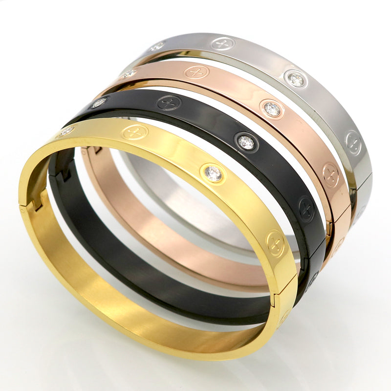 Titanium Steel Couple Bracelet - Eazideal Jewelry Galore