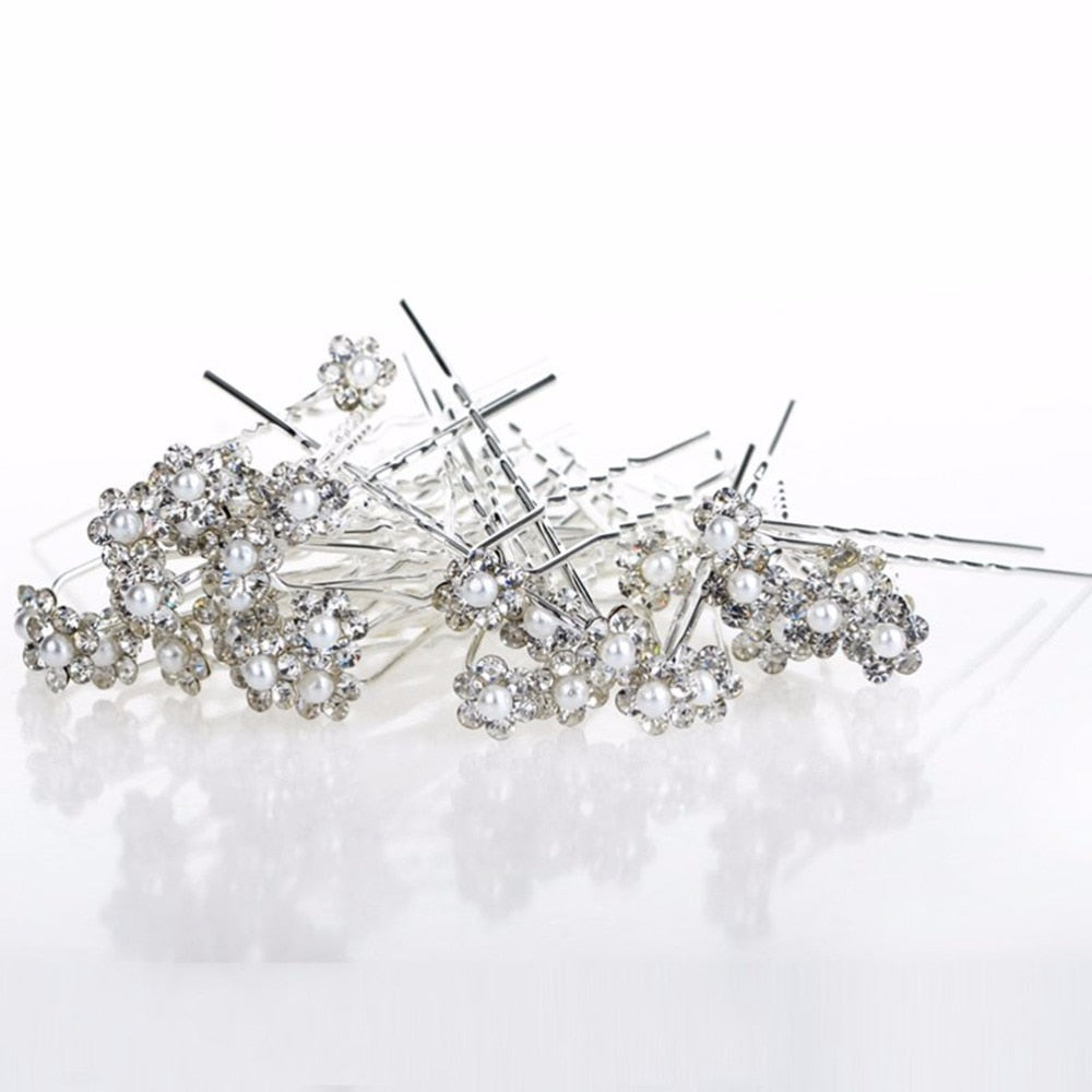 Simulated Pearl Hair Pins - 40 Pieces/Lot
