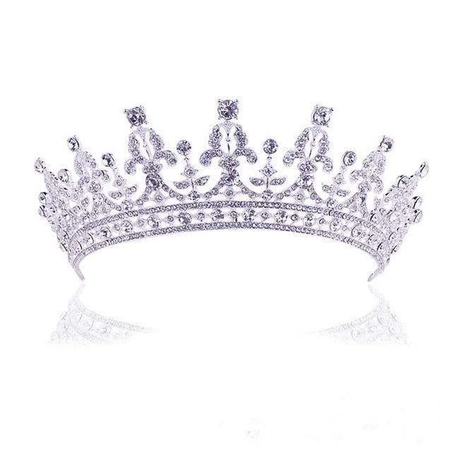 Fashion Bridal crystal Tiara(Silver)