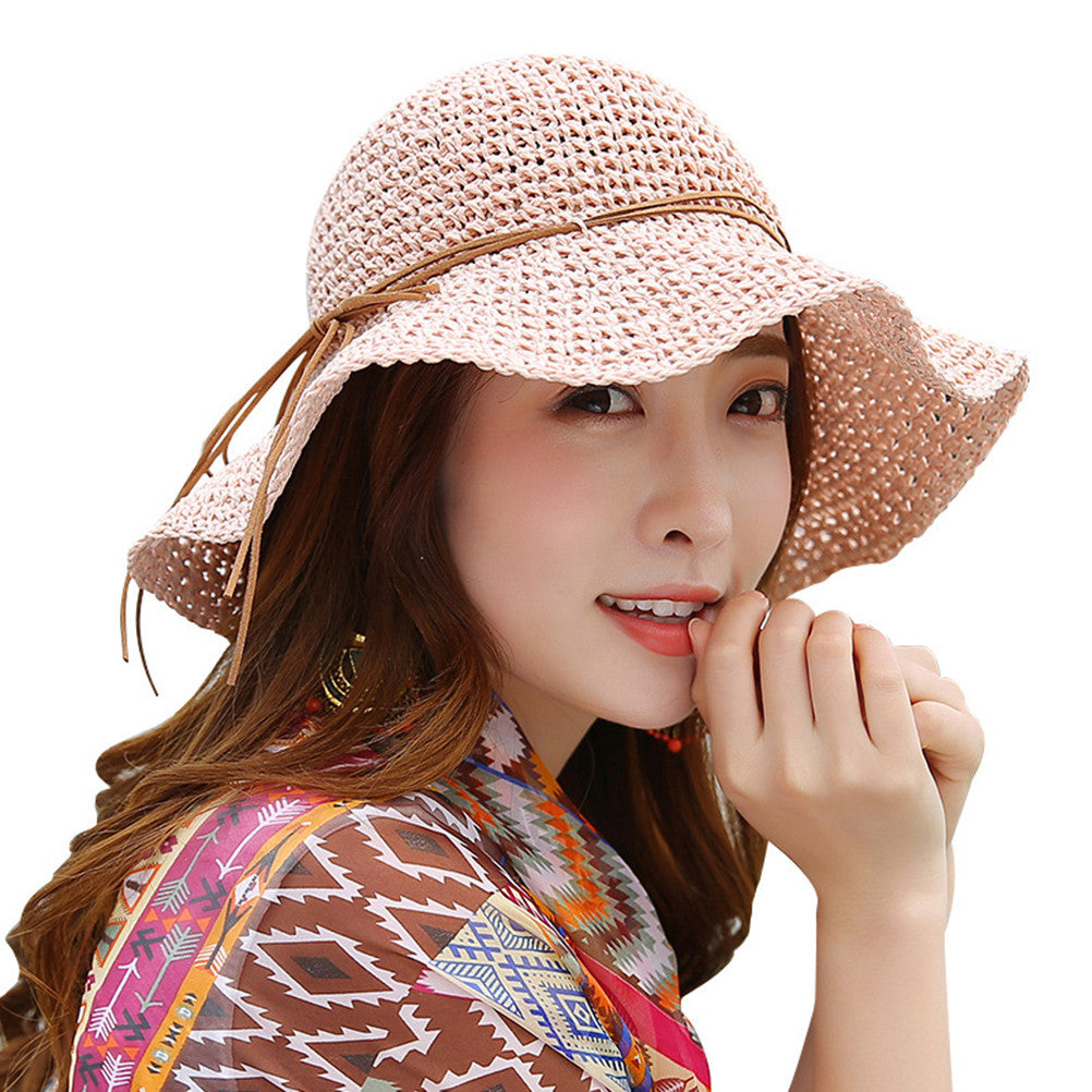 b400b6f2a3e6e Foldable Handmade Straw Floppy Hat – Eazideal Jewelry Galore